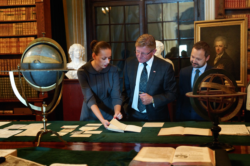 Ambassador of Norway visits the Palace of the Commonwealth /fot. A. Andrzejewska
